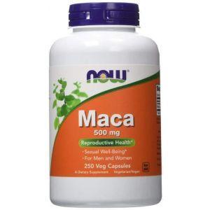 Мака (Maca), Now Foods, 500 мг, 250 капсу