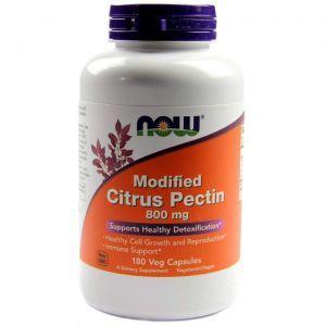 итрусовый пектин, Citrus Pectin, Now Foods, модифицированный, 800 мг, 180 кап