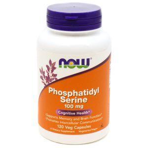 Фосфатидилсерин (Phosphatidyl Serine), Now Foods, 100 мг, 120 кап