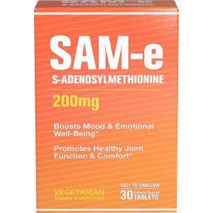 S-Аденозилметионин, SAM-e, Puritan's Pride, 200 мг, 30 таблеток (