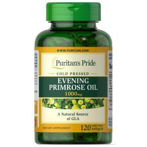 Масло вечерней примулы, Evening Primrose Oil, Puritan's Pride, 1000 мг, 120 гелевых капсул