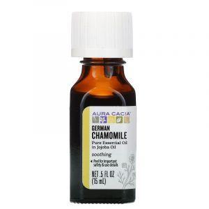 Ромашка аптечная в масле жожоба (Chamomile, Jojoba Oil), Aura Cacia, 15 мл