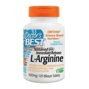 Аргинин, L-Arginine, Doctor's Best, 500 мг, 120 табл.