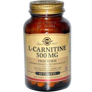 L-карнитин, Solgar, 500 мг, 60 таблето