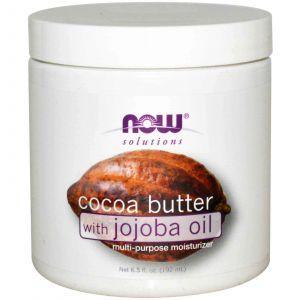 Масло какао с маслом жожоба, Now Foods, 192 мл.