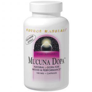 Мукуна жгучая, Source Naturals, 100 мг, 120 капсул
