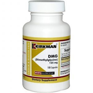 DMG (диметилглицин), Kirkman Labs, 125 мг, 100 капсул