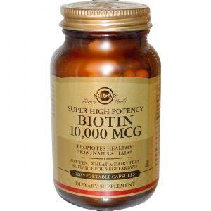Биотин, Solgar, 10000 мкг, 120 капсул