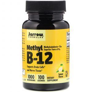 Витамин В12, Methyl B-12, Jarrow Formulas, 1000 мкг, 100 леденцов (Default)