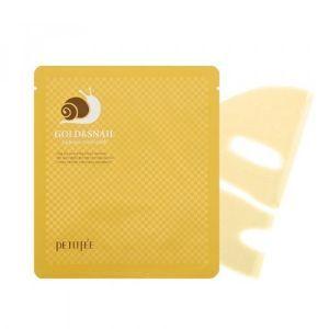 Гидрогелевая маска для лица с золотом и улиткой PETITFEE Gold & Snail Hydrogel Mask 30g - 1 шт