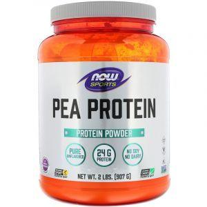 Гороховый протеин неприправленный, Pea Protein, Now Foods, Sports, 907 гр (Default)