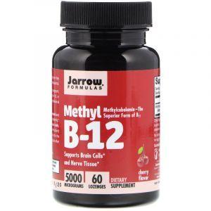 Витамин В12, Methyl B-12, Jarrow Formulas, 5000 мкг, 60 леденцов (Default)