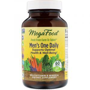 Витамины для мужчин, Men's One Daily, Mega Food, без железа, 1 в день, 60 таблеток (Default)