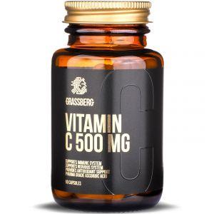 Витамин С, Vitamin C, Grassberg, 500 мг, 60 капсул