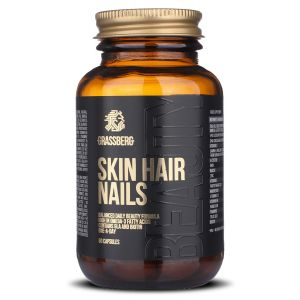 Витамины для волос, кожи и ногтей, Skin, Hair, Nails, Grassberg, 60 капсул