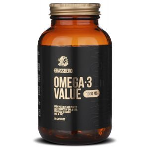 Омега-3, Omega-3 Value, Grassberg, 1000 мг, 90 капсул