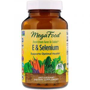 Селен с витамином Е (E Selenium), MegaFood, 60 таблеток (Default)