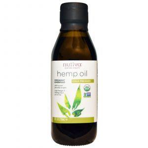 Конопляное масло, Nutiva, 236 мл