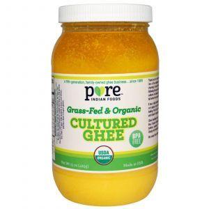 Гхи из сквашенных сливок и молока, Cultured Ghee, Pure Indian Foods, 425 г