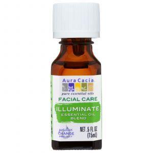 Эфирные масла смесь, осветление, Facial Care, Illuminate, Aura Cacia, 15 мл