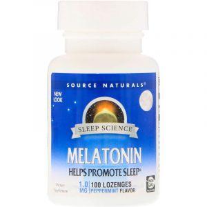 Мелатонин, Melatonin, Source Naturals, 1 мг, 100 таблеток. (Default)