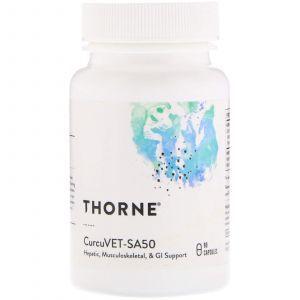 Куркумин для животных, CurcuVET-SA50, Thorne Research, 90 капсул (Default)