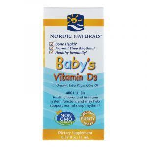 Витамин Д3 для маленьких детей, Vitamin D3, Nordic Naturals, 400 МЕ, 11 мл. (Default)