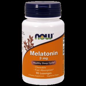 Мелатонин, Melatonin, Now Foods, 3 мг, 90 леденцов