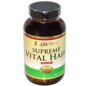 Витамины для волос и МСМ, Supreme Vital Hair, Life Time, 120 капсул
