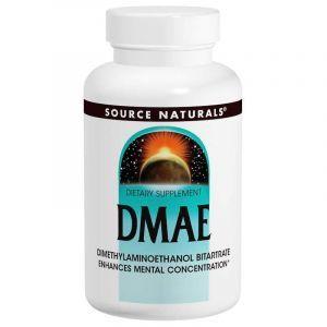 DMAE (Диметиламиноэтанол), Source Naturals, 200 таблеток. (Default)