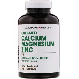 Кальций Магний Цинк, Calcium Magnesium Zinc, American Health, хелатный, 250 таблеток (Default)