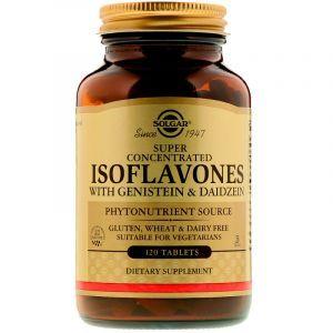Соевые изофлавоны с генистеином и даидзеином, Isoflavones, Solgar, 120 таблеток (Default)