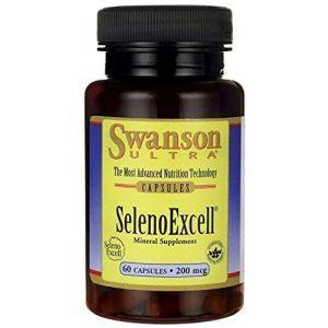 Селен, Ultra Selenoexcell, Swanson, 200 мкг, 60 капсул