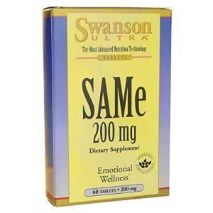 S-аденозил-L-метионин, Ultra SAMe, Swanson, 200 мг, 60 таблеток