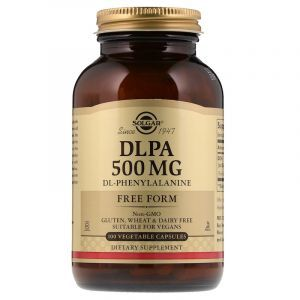 Фенилаланин, DLPA, Solgar, 500 мг, 100 капсул (Default)