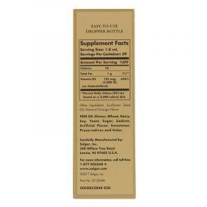 Витамин D3, Liquid Vitamin D3, Solgar, 5000 МЕ, апельсин, (59 мл) (Default)