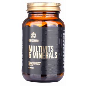Мультивитамины и минералы, Multivits & Minerals, Grassberg, 60 капсул