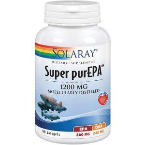 Рыбий жир, Super purEPA, Solaray, 1200 мг, 90 гелевых капсул