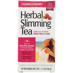 Чай для похудения (клюква, малина), Herbal Slimming Tea, 21st Century, без кофеина, 24 пак., (45 г) (Default)