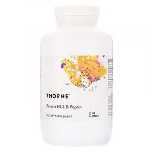 Бетаина гидрохлорид+ пепсин, Thorne Research, 450 капс. (Default)
