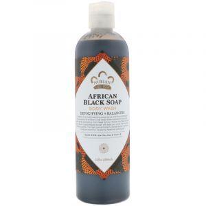 Гель для душа с чёрным мылом, Body Wash, Nubian Heritage, 384 мл (Default)