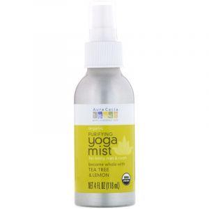 Спрей для мотивации,чайное дерево и лимон, Yoga Mist, Aura Cacia, очищающий, органик, 118 мл (Default)