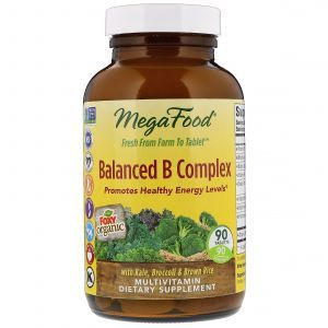 Витамин В (комплекс), Balanced B Complex, MegaFood, сбалансированный, 90 таблеток (Default)