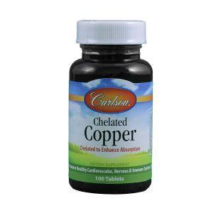 Хелат меди, Chelated Copper, Carlson Labs, 100 таблеток