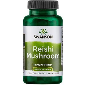 Грибы Рейши, Reishi Mushroom, Swanson, 600 мг, 60 капсул