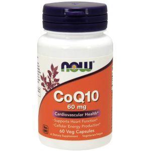 Коэнзим Q10, CoQ10, Now Foods, 60 мг, 60 вегетарианских капсул