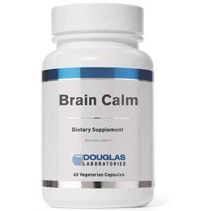 Успокоение мозга, смесь аминокислот и питательных веществ, Brain Calm, Douglas Laboratories, 60 капсул