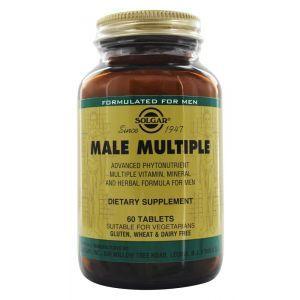 Витамины для мужчин, Male Multiple, Solgar, 60 таблеток (Default)