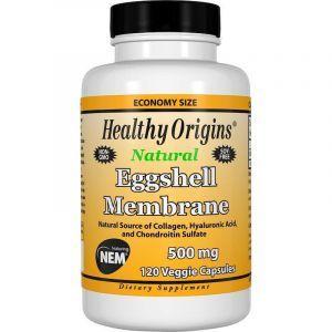 Яичная скорлупа, Eggshell Membrane, Healthy Origins, 500 мг, 120 кап. (Default)