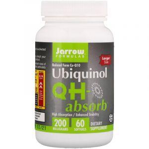 Убихинол (QH-absorb, Ubiquinol), Jarrow Formulas, 200 мг, 60 капсул (Default)